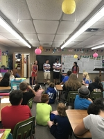 "Elementary students ""adopt"" football players and cheerleaders"